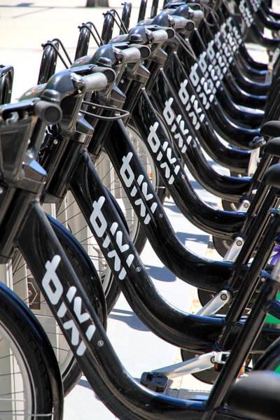 Bicycle Rack Photograph - Toronto Public Bikes by Valentino Visentini