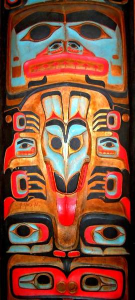 Totem Pole Wall Art - Photograph - Totem 2 by Randall Weidner