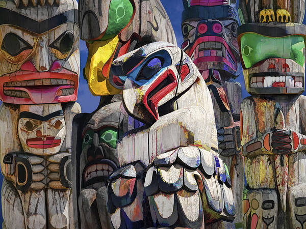 Totem Pole Wall Art - Photograph - Totem Poles In The Pacific Northwest by Randall Nyhof