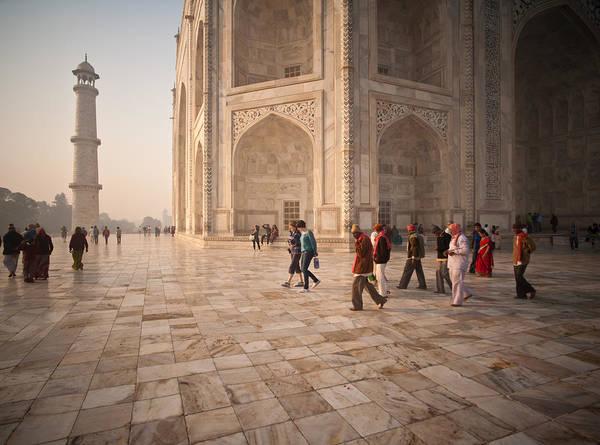 Taj Mahal Photograph - Touring Taj by Mike Reid