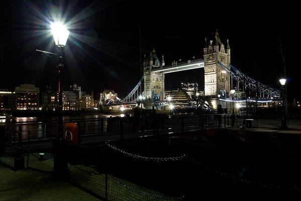 Wall Art - Photograph - Tower Bridge And Riverside Night View  by David Pyatt
