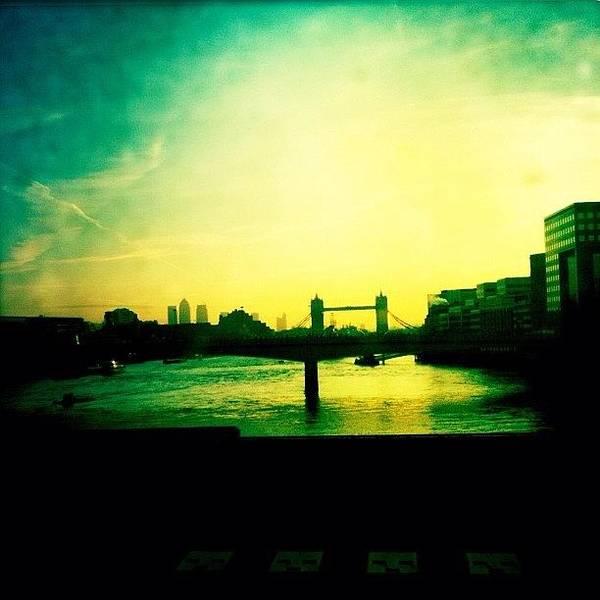 Wall Art - Photograph - Tower Bridge At Sunrise by Samuel Gunnell