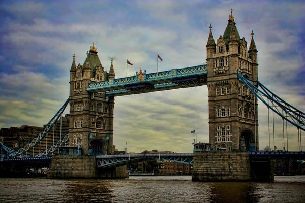 Expanse Photograph - Tower Bridge London by Heather Applegate