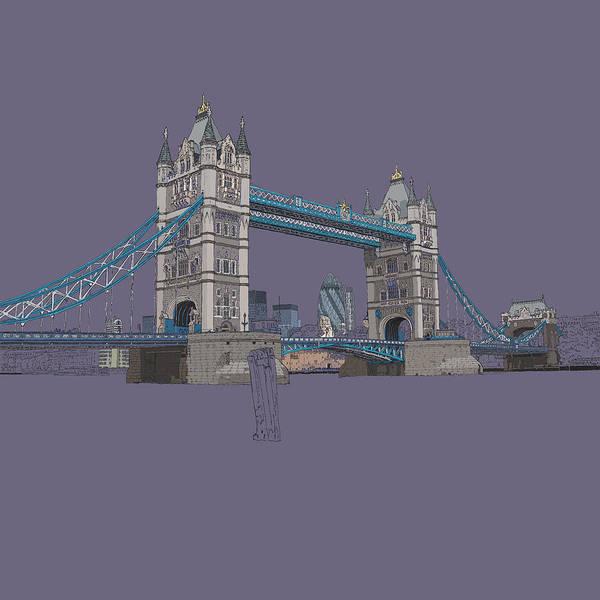 River Thames Digital Art - Tower Bridge London by Simon Carter