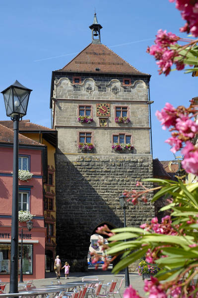 Photograph - Tower In Old Town Rottweil Germany by Matthias Hauser