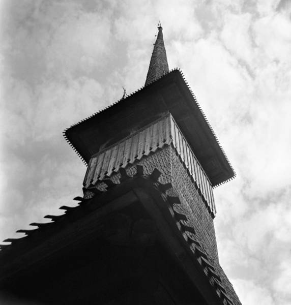 Photograph - Tower Of A Wooden Church In Maramures Romania by Emanuel Tanjala