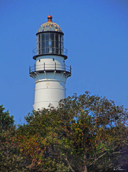 Photograph - Tower Of East Light Of Two Lights by Nancy Griswold