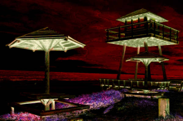 Ormond Photograph - Tower Over The Shoreline Inverted by DigiArt Diaries by Vicky B Fuller