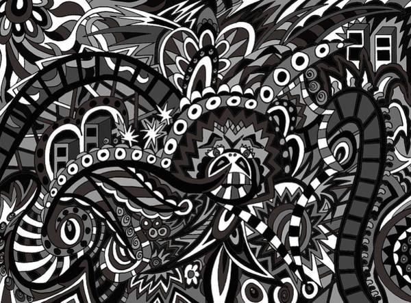 Wall Art - Drawing - Town by Karen Elzinga