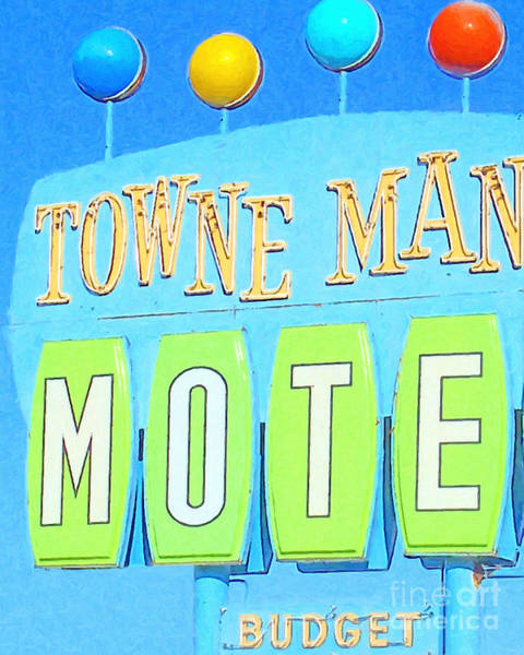 Photograph - Towne Manor Motel by Wingsdomain Art and Photography
