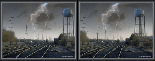 Car Stereo Photograph - Tracking The Storm - Gently Cross Your Eyes And Focus On The Middle Image by Brian Wallace