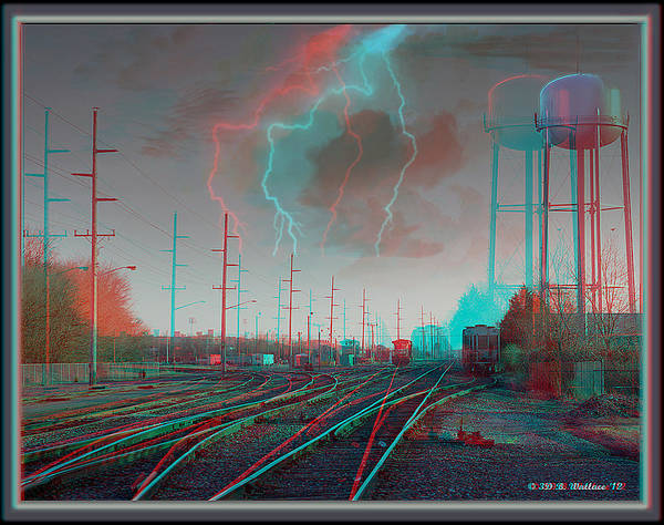 Car Stereo Photograph - Tracking The Storm - Red-cyan Filtered 3d Glasses Required by Brian Wallace
