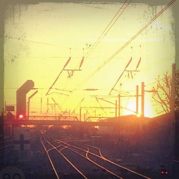 Transport Photograph - Tracks At Sunset  by Marc Gascoigne