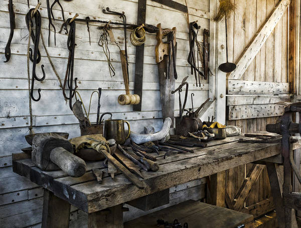 Blacksmith Wall Art - Photograph - Trade Tools by Peter Chilelli