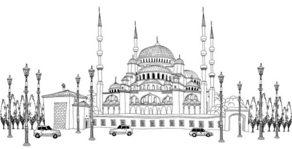 Mosque Digital Art - Traffic By Mosque by Eastnine Inc.