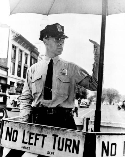 Photograph - Traffic Cop, 1936 by Granger
