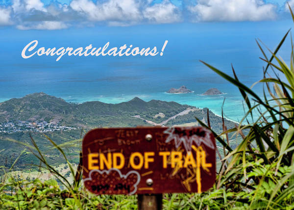 Photograph - Trail End Congratulations by Dan McManus