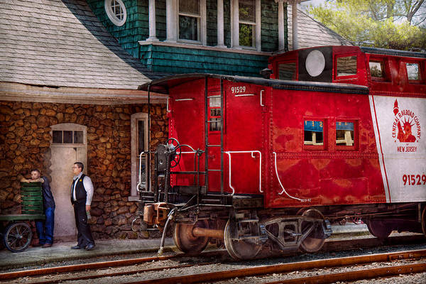 Photograph - Train - Caboose - End Of The Line by Mike Savad