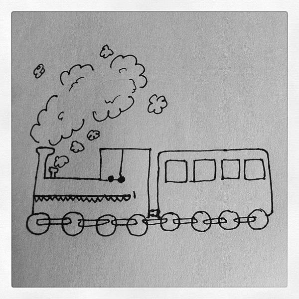 Cartoon Wall Art - Photograph - Train Says Don't Smoke. #train #smoke by Daniel Hills