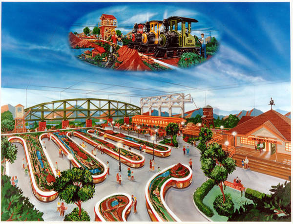 Model Trains Painting - Trainville by John DiLauro