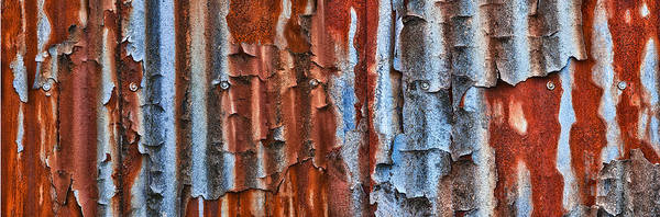 Corrosion Photograph - Trainworks by Gary LaComa