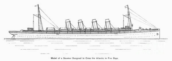 Photograph - Transatlantic Liner, C1890 by Granger