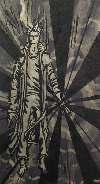 Dude Mixed Media - Transending Man II by Nicholas Vermes