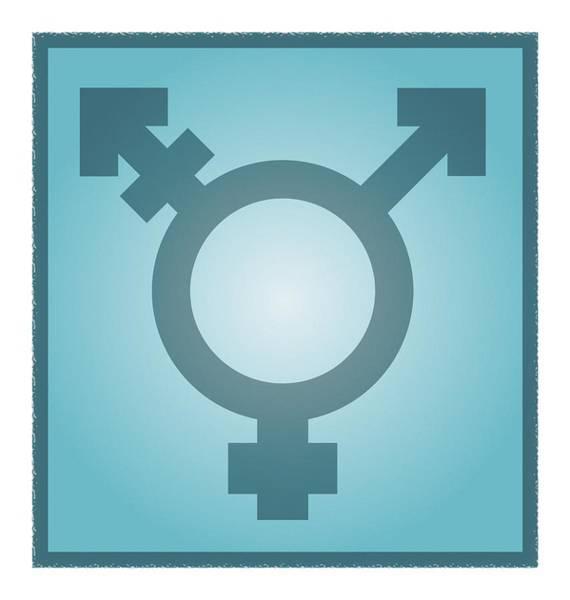Transgender Photograph - Transgender Symbol, Artwork by Stephen Wood