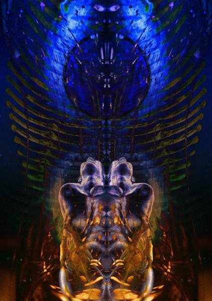 Digital Art - Transmutating Twins by David Kleinsasser