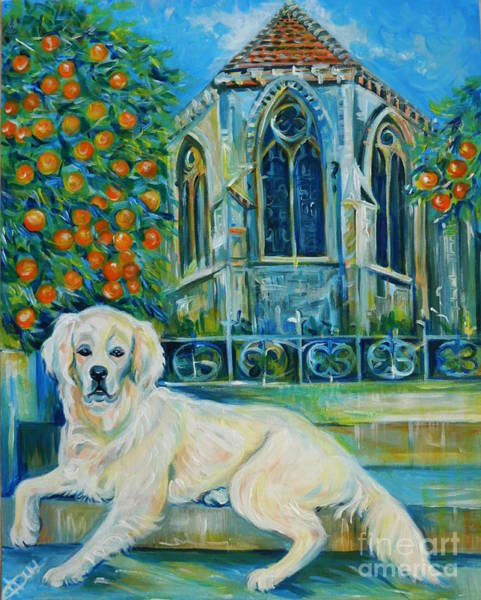 Southern France Painting - Travel Notebook. Nice. The Keeper Of Golden Fruit by Anna  Duyunova