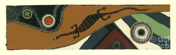 Mixed Media - Traveling Goanna by Pat Saunders-White