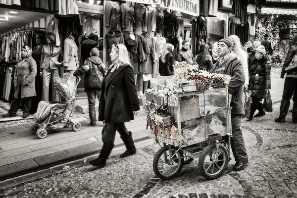 Market Place Photograph - Traveling Vendor by Joan Carroll
