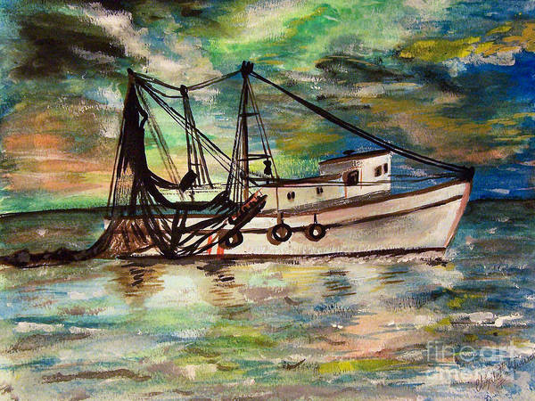 Painting - Trawling by Abbie Shores
