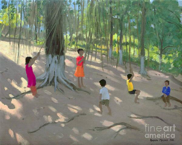 Dappled Light Painting - Tree Swing by Andrew Macara