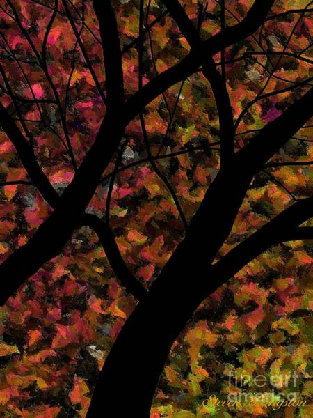 Wall Art - Painting - Trees And Leaves by Steven Lebron Langston