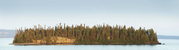 Wall Art - Photograph - Trees Covering An Island On Lake by Susan Dykstra