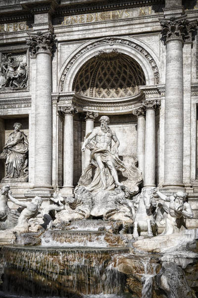 Photograph - Trevi Fountain Detail by Joan Carroll