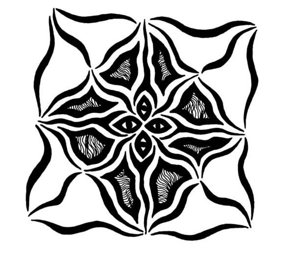 Drawing - Tribal Eyes by Beth Akerman