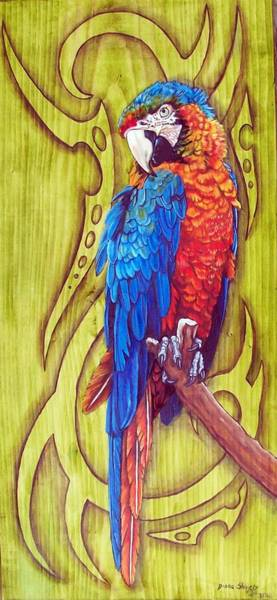 Wall Art - Painting - Tribal Macaw by Diana Shively