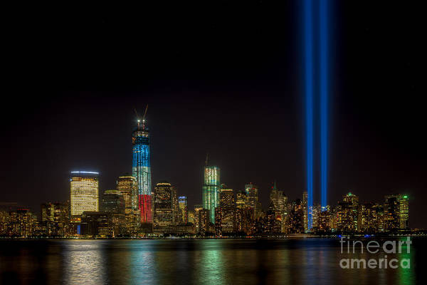 Photograph - Tribute In Light Ix by Clarence Holmes