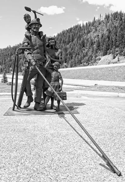 Lead Mine Wall Art - Photograph - Tribute To The Mining Family - Wallace Idaho by Daniel Hagerman
