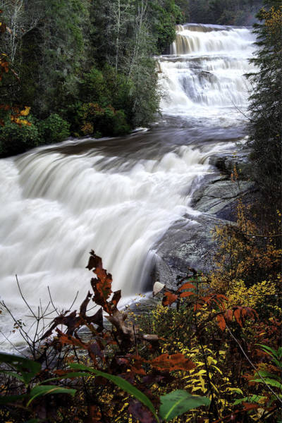 Triple Falls Photograph - Triple Falls  - Nc Autumn Outdoors by Rob Travis