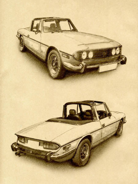 Wall Art - Digital Art - Triumph Stag by Michael Tompsett