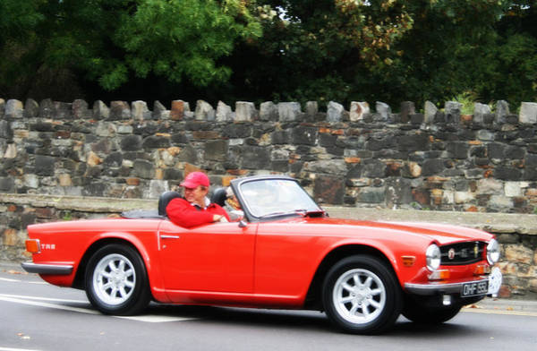 Vintage Conway Photograph - Triumph Tr6 by Georgia Fowler