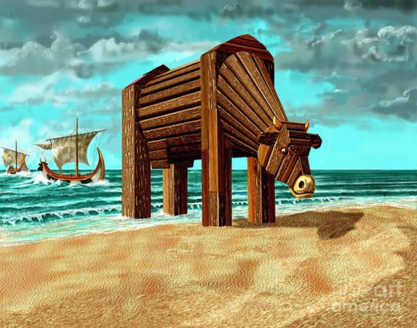 Trojan Cow Art Print