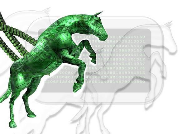 Malware Photograph - Trojan Horse, Conceptual Artwork by Victor Habbick Visions