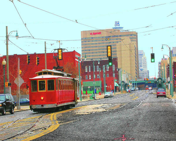 Digital Art - Trolley North Main Street by Lizi Beard-Ward