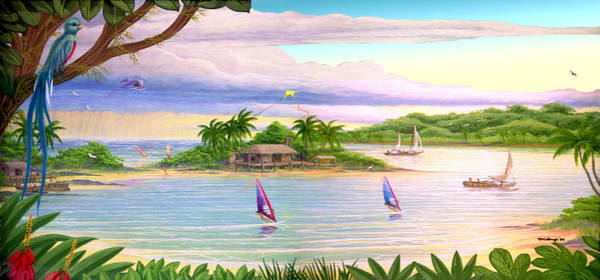 Painting - Tropical Cove Acrylic Painting Filtered by Duane McCullough