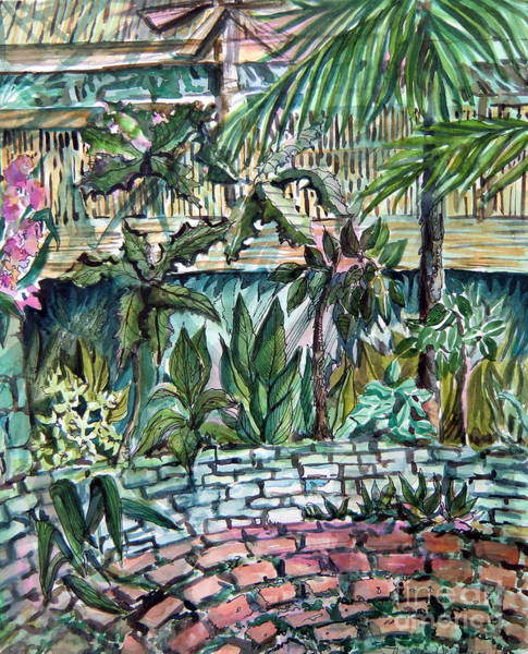 Wall Art - Painting - Tropical Garden by Mindy Newman