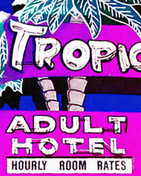 Photograph - Tropicana Adult Hotel by Wingsdomain Art and Photography